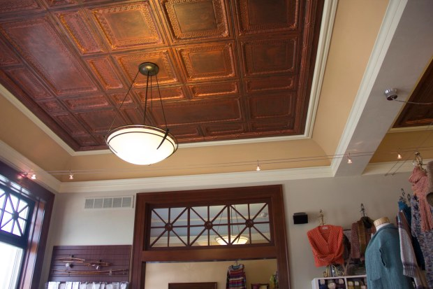 Tin ceilings are the best ceilings!