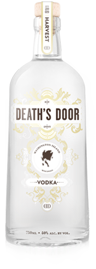 Death's Door Vodka. I wrote about the legend of Death's Door in a previous post, if you'd like to look that up.
