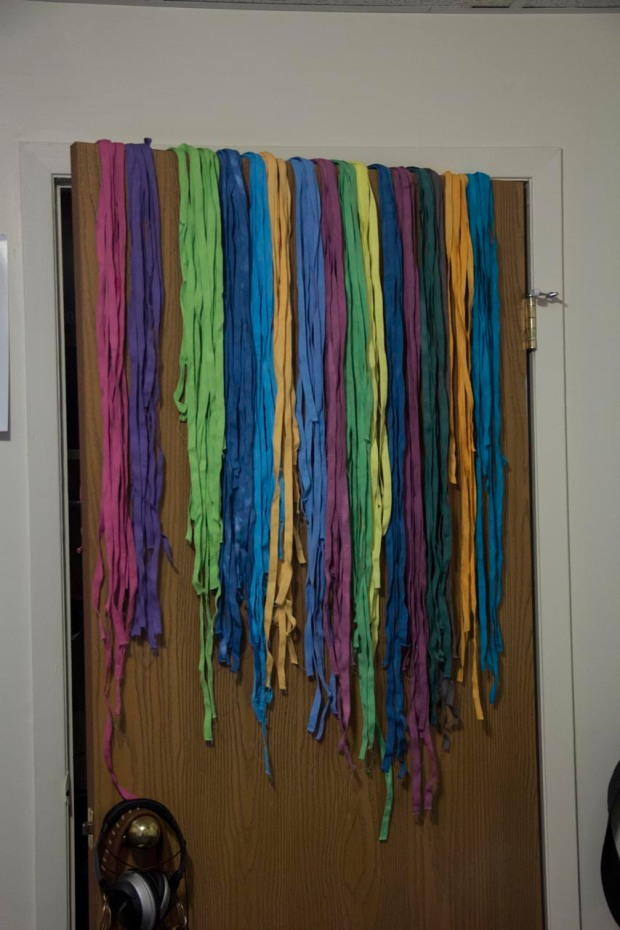 The most colorful of closet doors