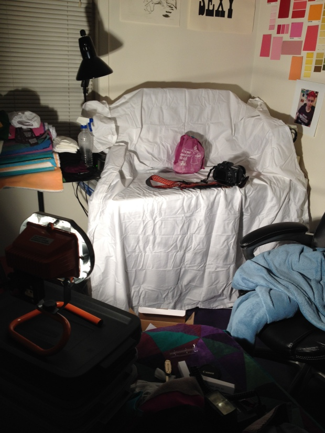 The college student's lighting studio