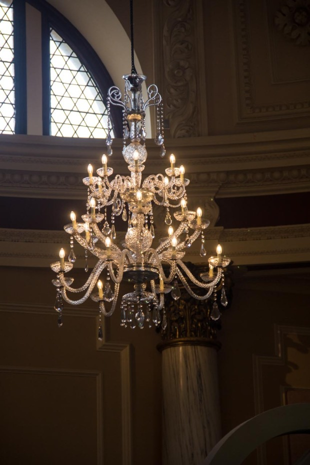 This cool chandelier is not Roman, but it was there, and it was pretty...