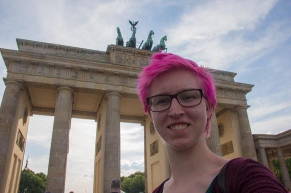 Selfies at the Brandenburg Gate!