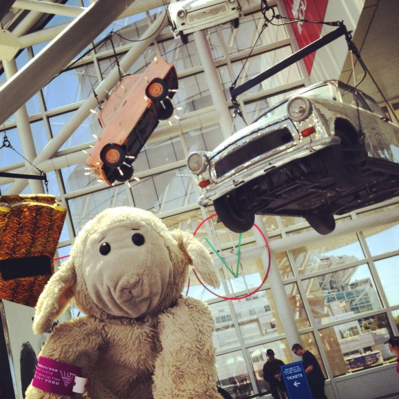 Sheep visits the Rock Hall and is loved by everyone there, as usual.