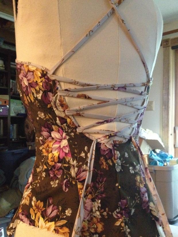 floral dress bodice dressmaking process