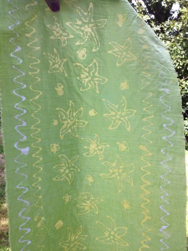 batik in progress