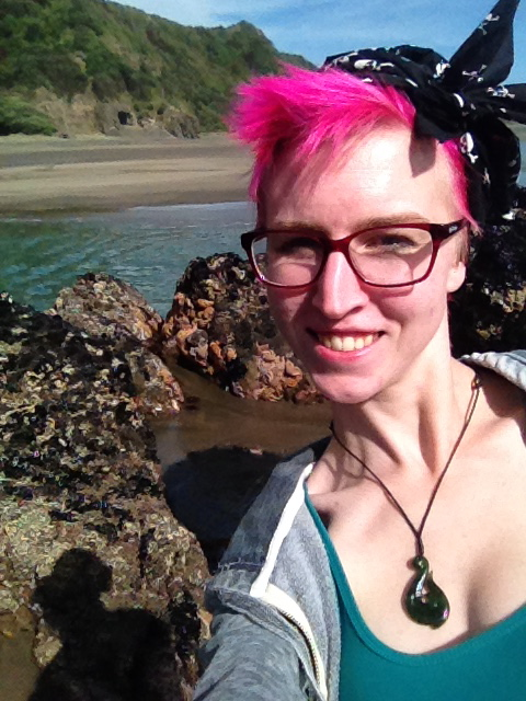 selfie at starfish rock piha adventures