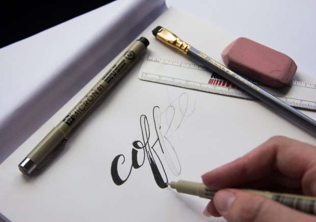 how to draw freehand lettering