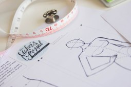 fashion sketch trace for sewing planner